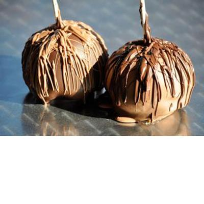Chocolate Covered Caramel Apple - No Nut Topping