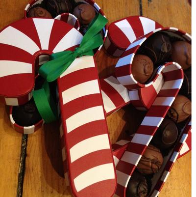 Candy Cane Truffle Box - 8 Pieces