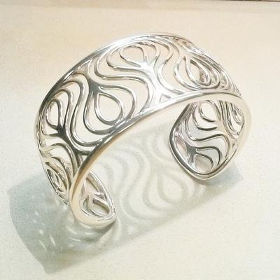 """Sterling Silver """"Plume"""" Cuff Bracelet"""