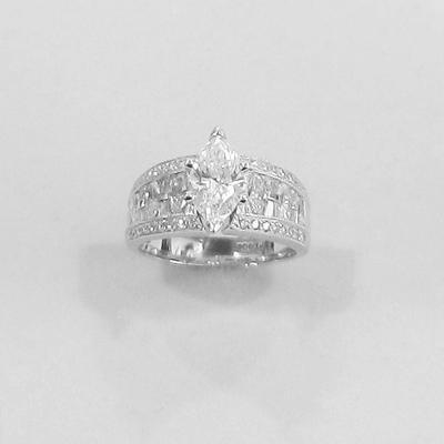 "Platinum ""Marquise"" Diamond Engagement Ring"