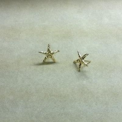 14KY Starfish Pierced Earrings