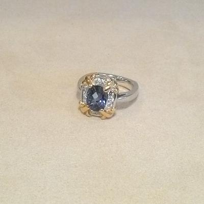 Plat/18KY/Tanzanite/Diamond.Ring