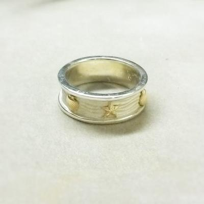 Sterling Siliver 14KY Nautical Ring
