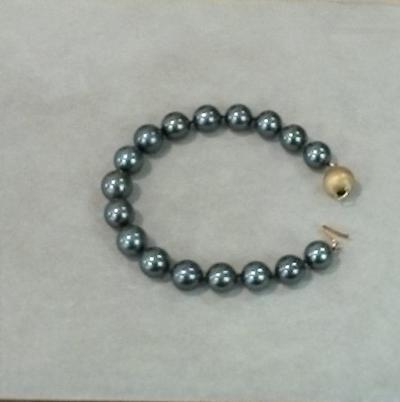 18KY Tahitian Pearl Bracelet