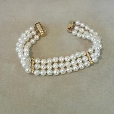 14KY CP 3-Strand Bracelet