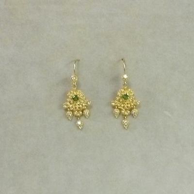 22/20/18KY Tsavorite Garnet/Diamond Pierced