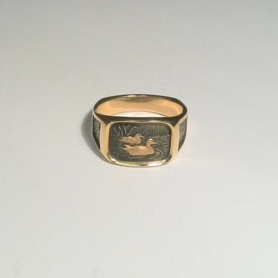 14KY Gent's Swimmer Duck's Ring