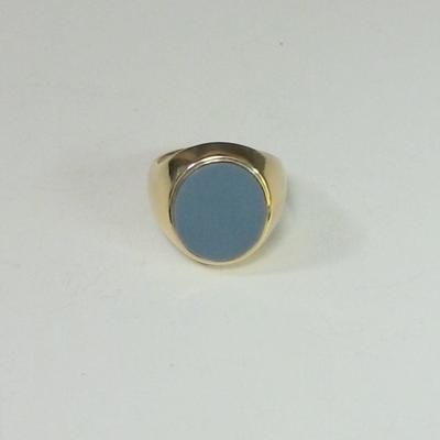 14KY Blue Onyx Gentelmen's Ring