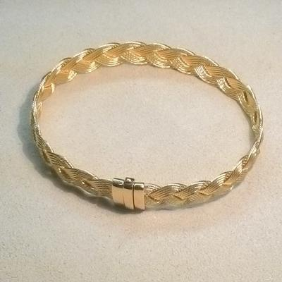 14KY 9mm 4-Braid Bracelet