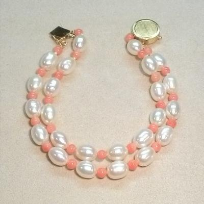 14KY FWP Coral Bracelet