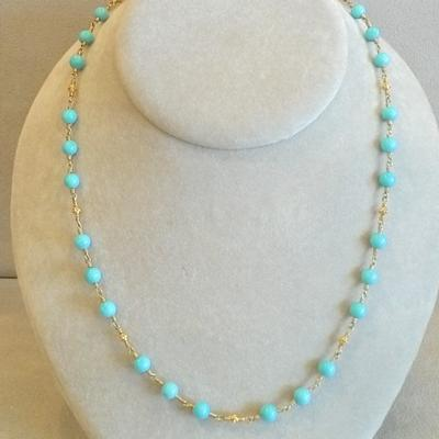 20KY/KY Turquose Bead Necklace