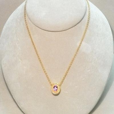 22KY Padparadsha Sapphire Pendant