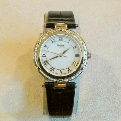 2-Tone Cable Bezel Ladies Watch
