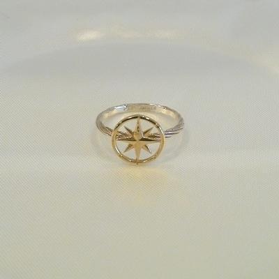 14KY-S/S Tiny Compass Rose