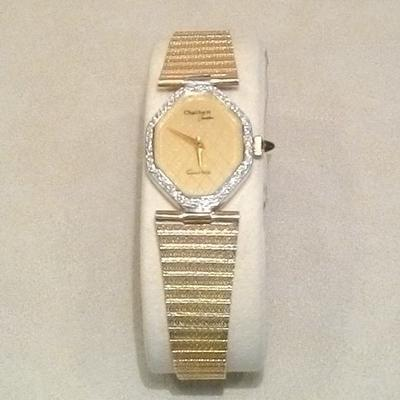 14KY Ladies Diamond Bracelet Watch