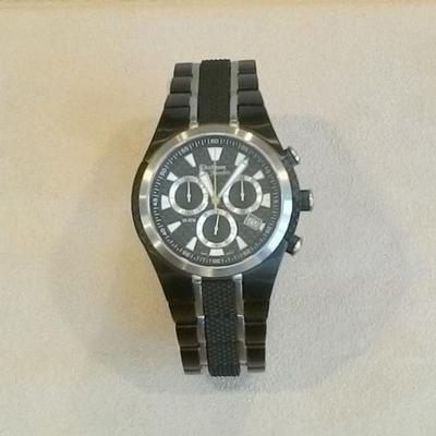 Blackened Stainless w/Rubber Gents Watch