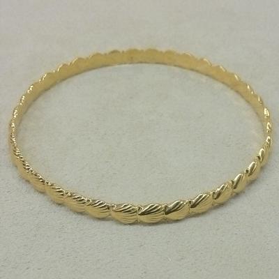 Scallop Shell Bangle Bracelet