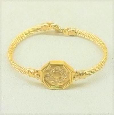 14KY SV 2 Cable Bracelet w Daimonds