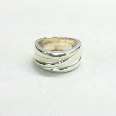"S/S Textured ""Swirl""  Ring"