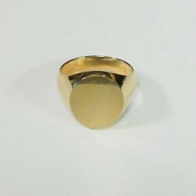 14KYOval G Signet Ring