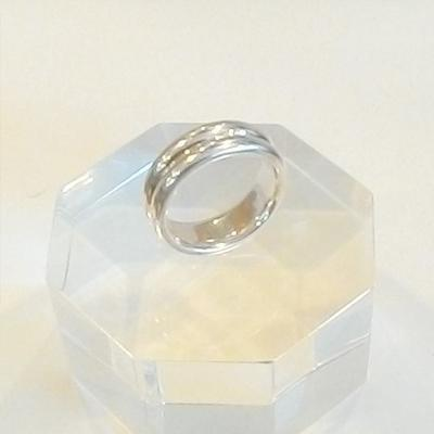Sterling Silver Domed Rib Ring