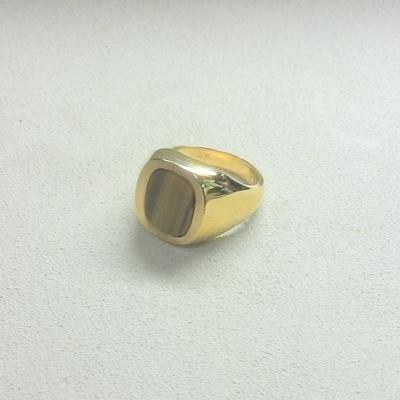 14KY Man's Tiger Eye Ring
