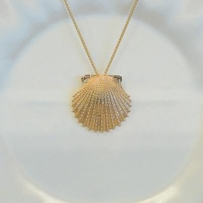 14KY Knobby Scallop Pendant