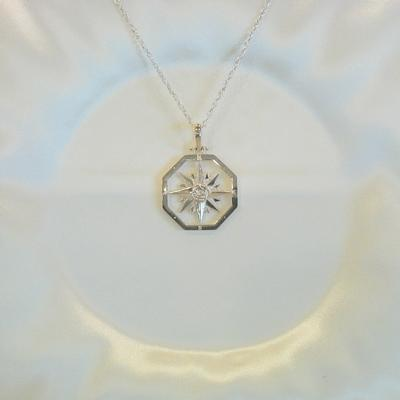S/S Compass Rose Pendant