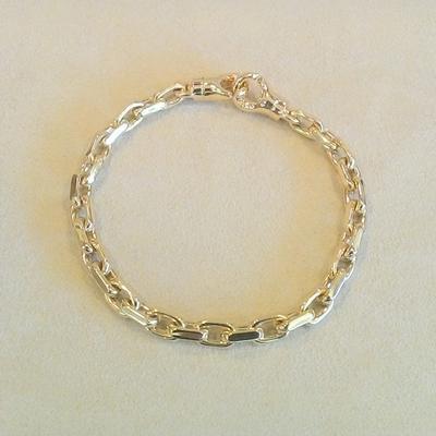 """14KY 9"""" Solid Cable Link Bracelet"""