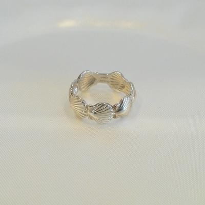 Sterling Silver 7-Shell Scallop Band
