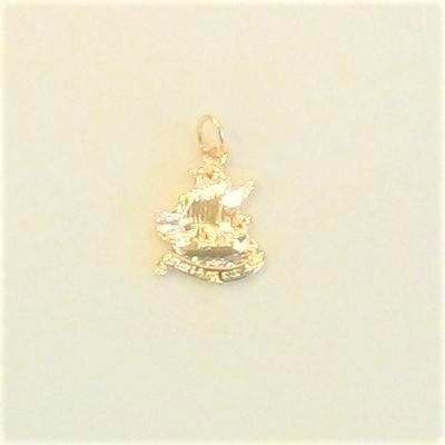 14KY Chaplain Ship Charm