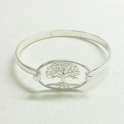 Sterling Silver Tree of Life Bracelet Top