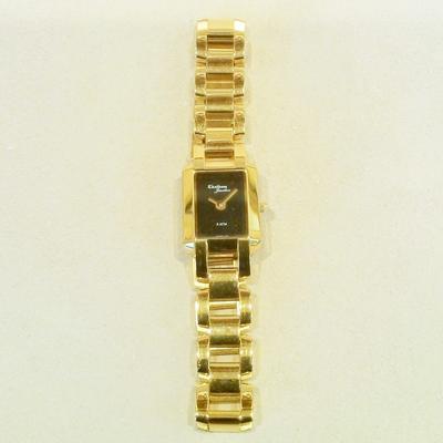 YTSB L. Black Face Fashion Link Bracelet Watch