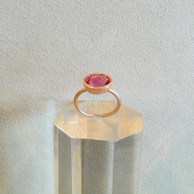 14KP Tourmaline Ring Size 6.5