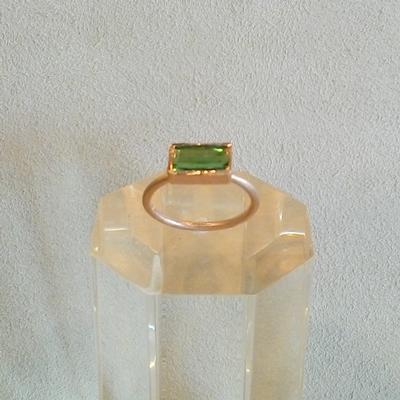 14KP Green Tourmaline Ring