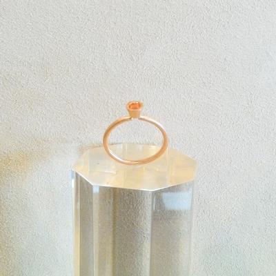 14KP Mandarin Garnet Ring