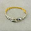 Two-Tone Diamond Ribbon Hinged Bracelet