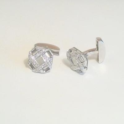 Platinum Diamond Cuff Links