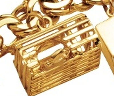 14KY Lobster Trap Charm