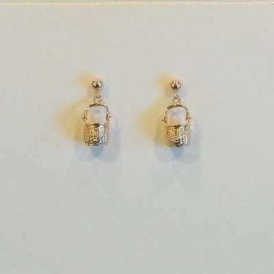 14K Yellow Gold  Nantucket Basket Drop Earrings