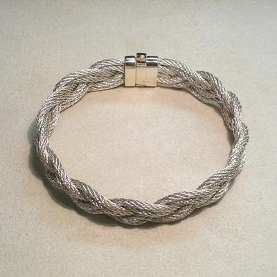 Sterling Silver 13mm Braid Bracelet