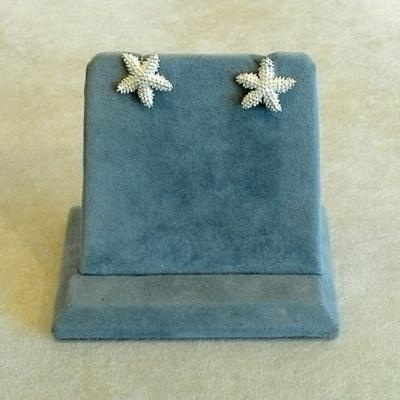 Sterling Small Knobby Starfish Pierced Earrings