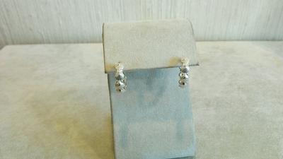 Sterling Scallop Shell Hoop Pierced Earrings