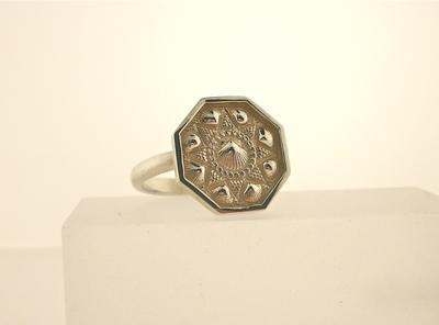 Sterling Silver Sailor's Valentine Ring