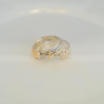 Two-Tone Stackable Rings