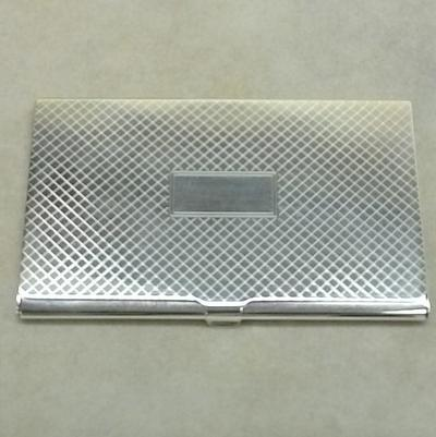 S/S Hobnail Finish Card Case