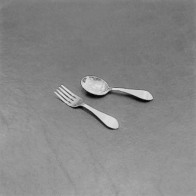 """""""Pointed Antique"""" Fork/Spoon Set"""