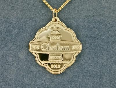Chatham 300th Gold Pendant