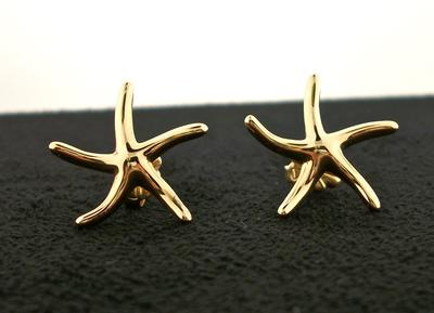 14K Hi-Polish Starfish Earrings