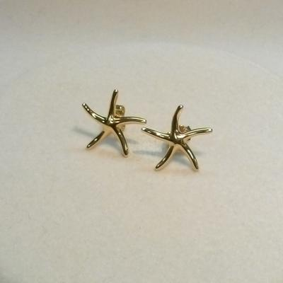 14K Hi-Polish Starfish Earrings